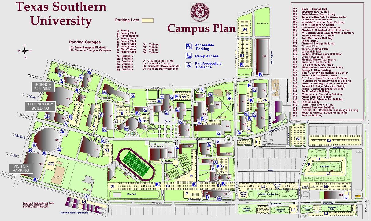Texas State Campus Map Campus Map