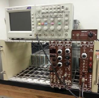 Oscilloscope, NIM Bin and Modules