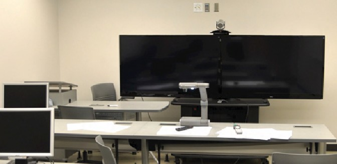 Teleconferencing equipment used for delivering and receiving remote classes